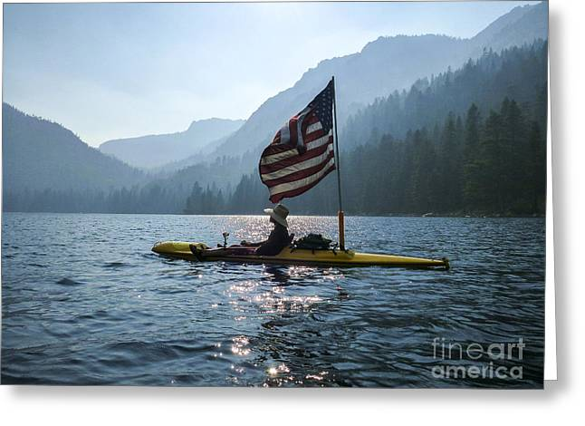 Freedom Of The Sierras Greeting Card by Cheryl Wood
