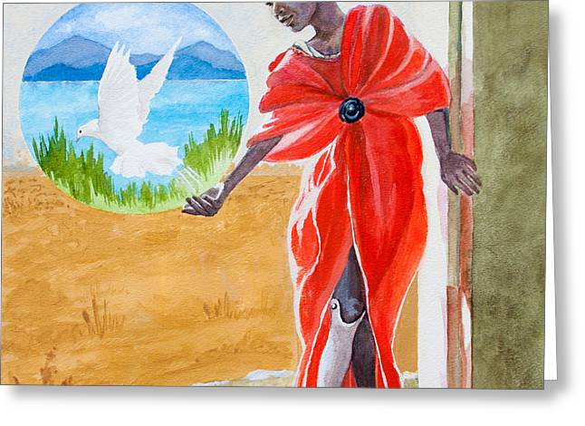 Freedom Rising Greeting Card by Kathryn Donatelli