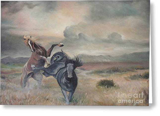 Greeting Card featuring the painting Freedom by Sorin Apostolescu
