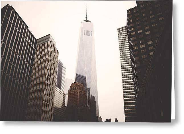 Freedom Tower  Greeting Card by Amber Fite