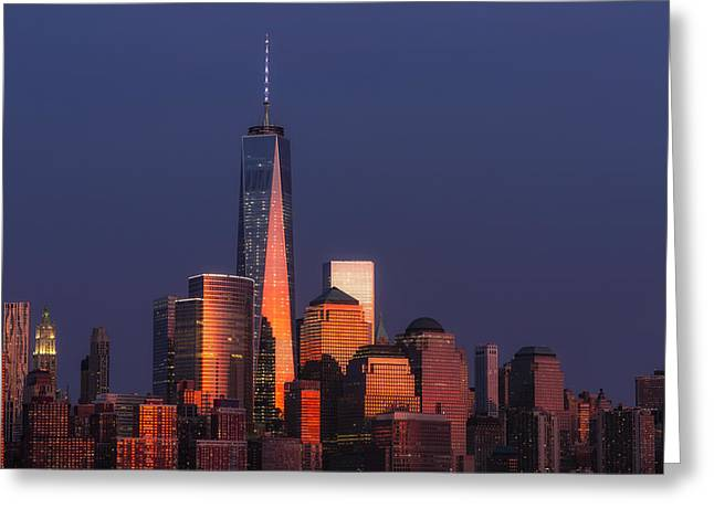 Freedom Tower Glow II Greeting Card