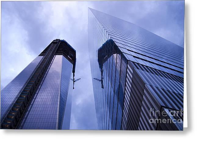 Freedom Tower Ground Zero New York City Greeting Card by Sabine Jacobs