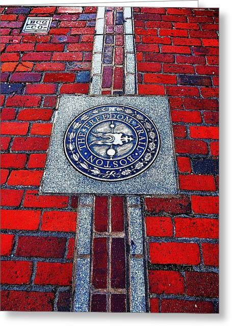 Freedom Trail Greeting Card by Benjamin Yeager