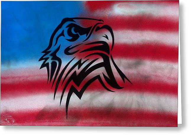 Freedom Greeting Card by Troy Woolley