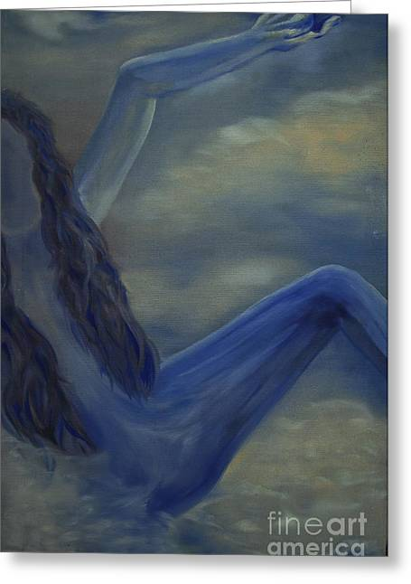 Greeting Card featuring the painting Freefall by Stuart Engel