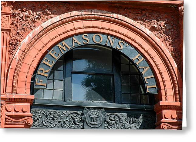 Greeting Card featuring the photograph Freemason Hall Savannah by Allen Carroll