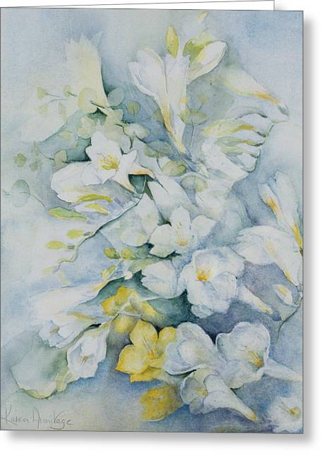 Freesia Eldus, Giant White Greeting Card