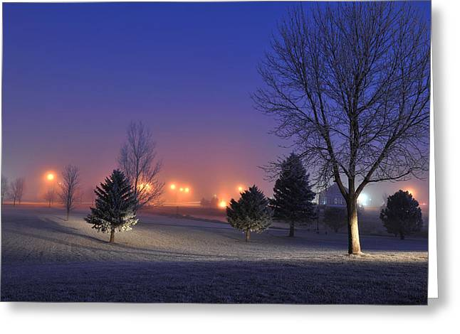 Freezing Morning In Watertown Greeting Card by Dung Ma