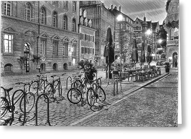 Freiburg Road Homes  Greeting Card by Dean Wittle