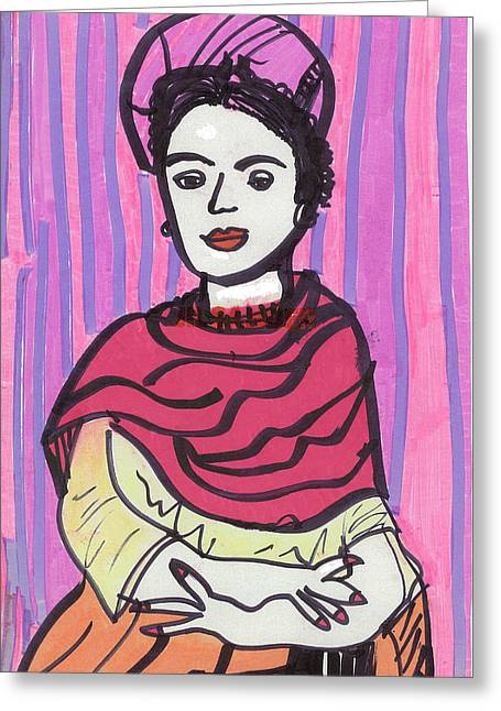 Frida Kahlo Greeting Card by Don Koester
