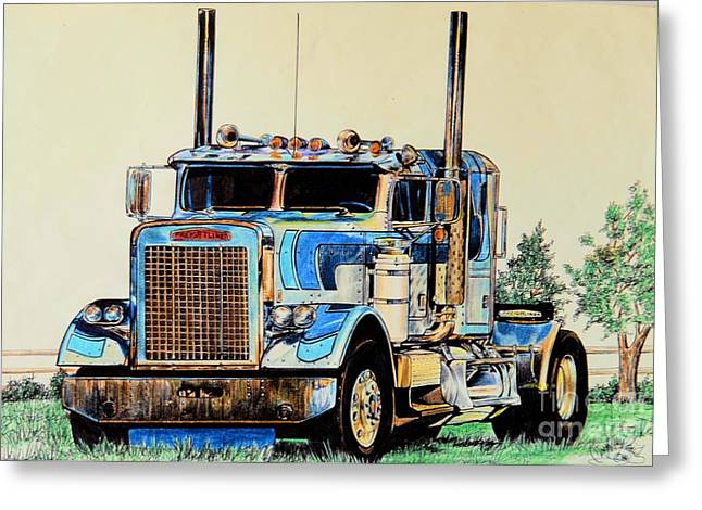 Freightliners Greeting Card
