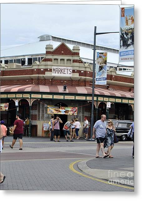 Fremantle Market Place Greeting Card by Bobby Mandal
