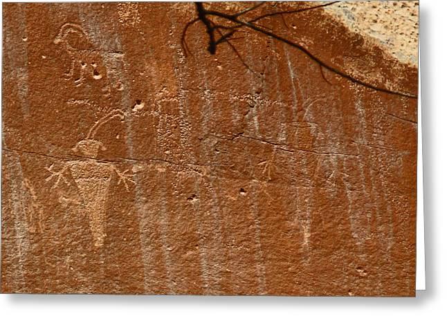 Fremont Culture Rock Art In Utah Greeting Card
