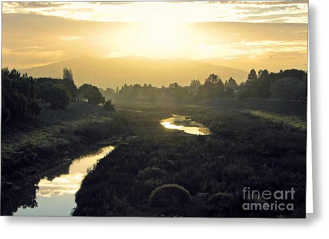 Greeting Card featuring the photograph Fremont Dawn by Ellen Cotton
