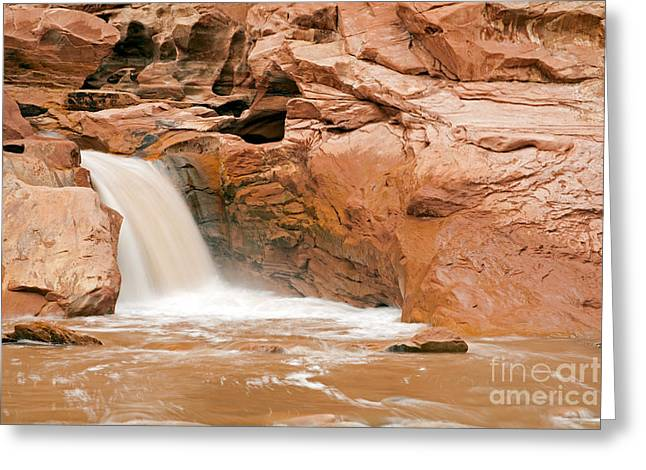 Fremont River Falls Capitol Reef National Park Greeting Card
