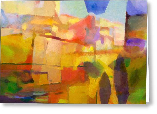 French Abstract Greeting Card