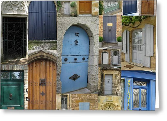 French And Belgian Doors Greeting Card by Cathy Jacobs