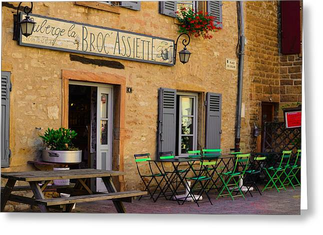 Greeting Card featuring the photograph French Auberge by Dany Lison