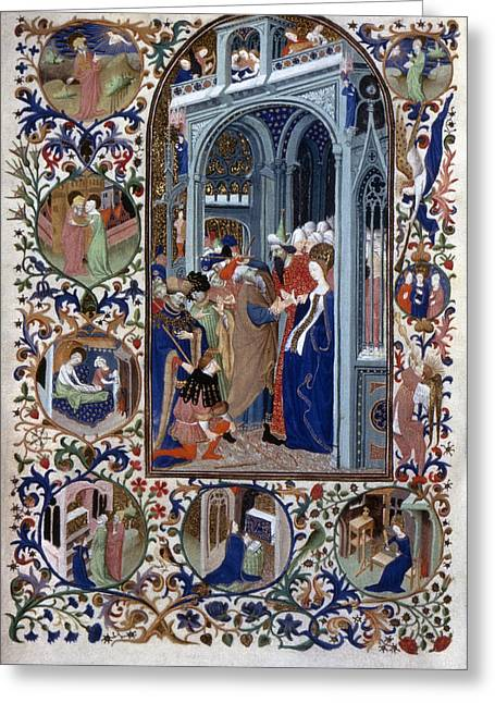 French Book Of Hours Marriage Of Virgin Greeting Card by Granger