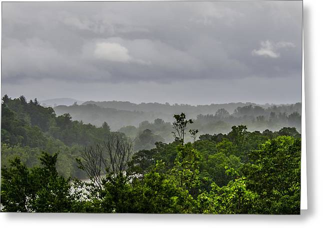 French Broad River Greeting Card by Carolyn Marshall