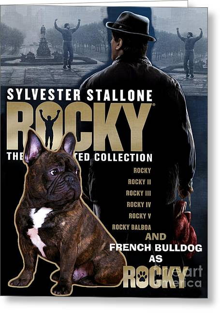French Bulldog Art - Rocky Movie Poster Greeting Card