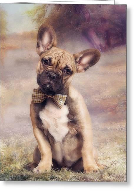 French Bulldog Greeting Card by Cindy Grundsten