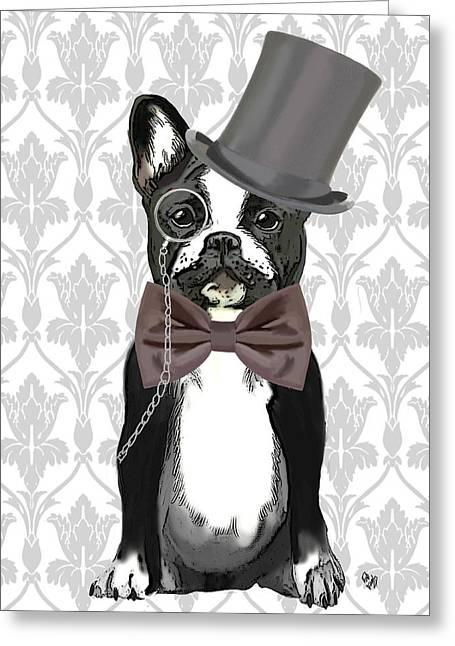 French Bulldog Monsieur Bulldog Greeting Card by Kelly McLaughlan