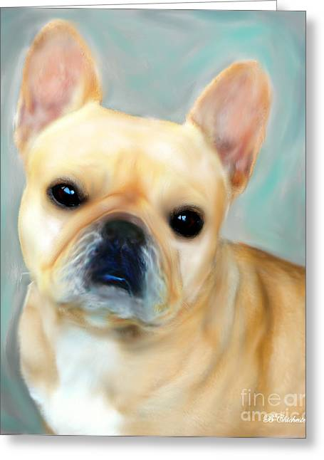 French Bulldog Mystique D'or Greeting Card by Barbara Chichester