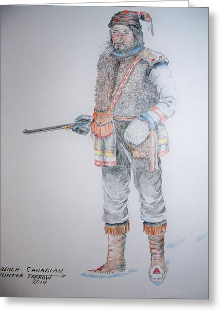 French Canadian Hunter Greeting Card