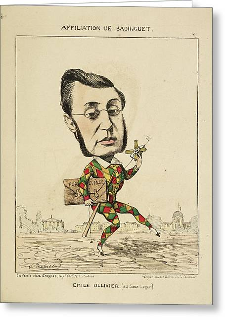 French Caricature - Emile Ollivier Greeting Card by British Library