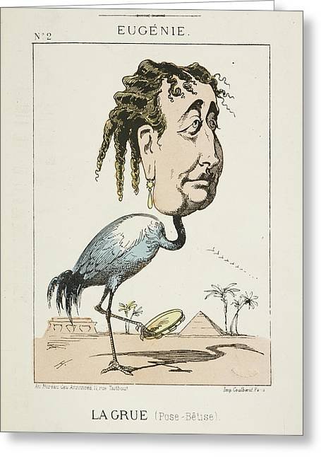 French Caricature - La Grue Greeting Card by British Library