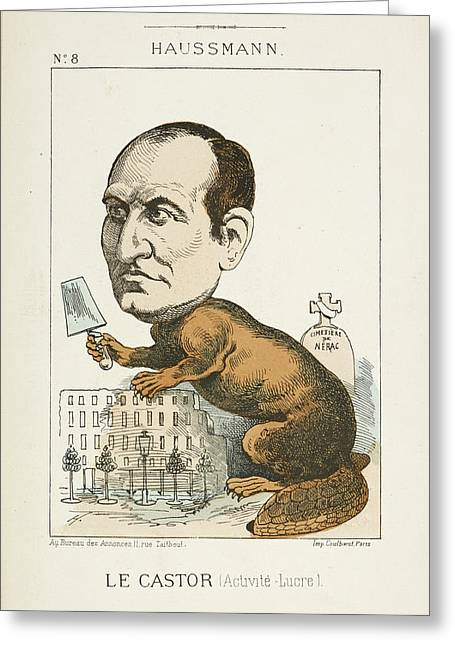 French Caricature - Le Castor Greeting Card by British Library
