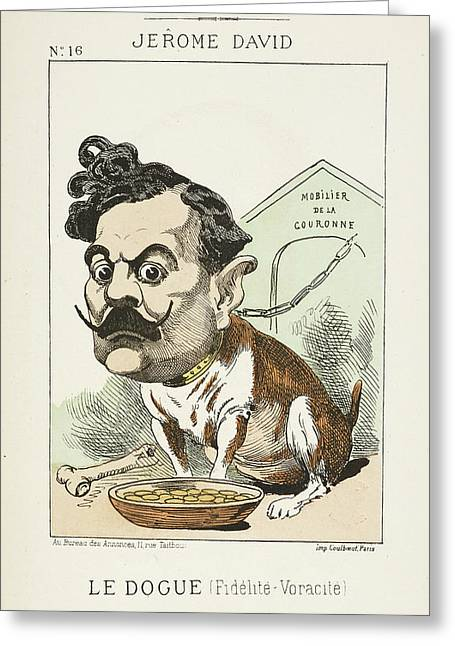 French Caricature - Le Dougue Greeting Card by British Library