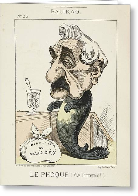 French Caricature - Le Phoque Greeting Card by British Library