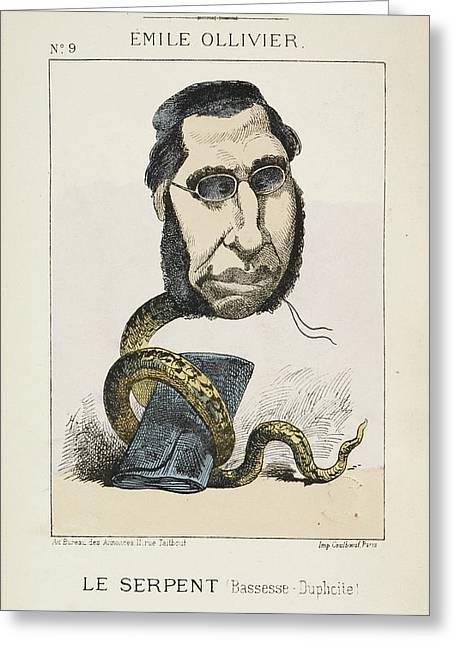 French Caricature - Le Serpent Greeting Card by British Library