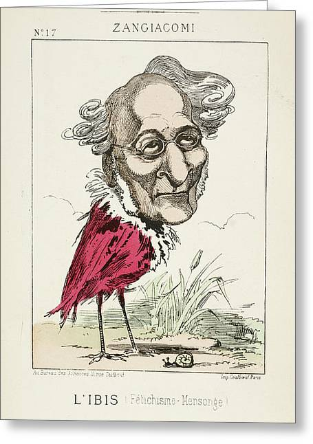 French Caricature - L'ibis Greeting Card by British Library