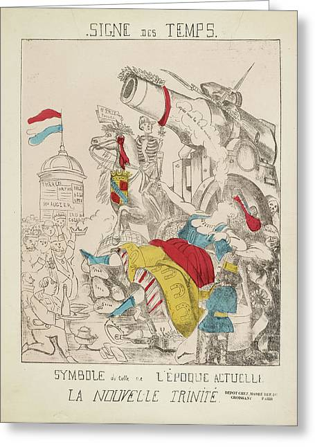 French Caricature - Signe Des Temps Greeting Card by British Library