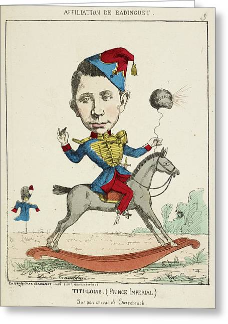 French Caricature - Titi-louis Greeting Card by British Library