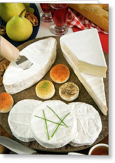 French Cheeses, France Greeting Card by Nico Tondini