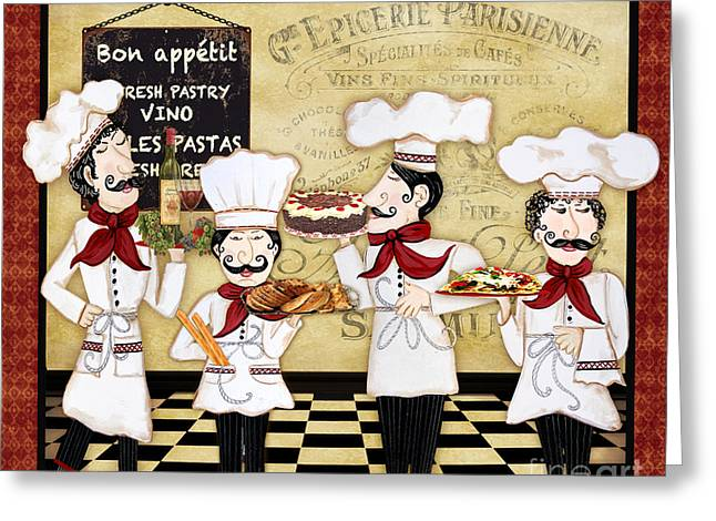 French Chefs-bon Appetit Greeting Card