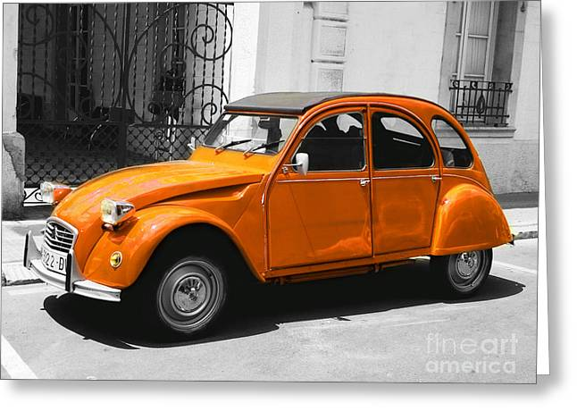 French Classic Car Greeting Card
