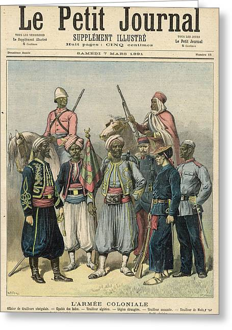 French colonial forces from senegal drawing by mary evans picture french colonial forces from senegal greeting card by mary evans picture library m4hsunfo
