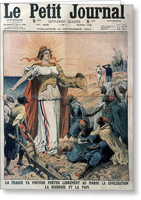 French Colonialism, 1911 Greeting Card by Granger