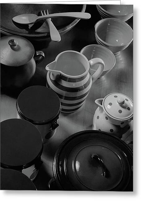 French Cookware Greeting Card by Anton Bruehl & Fernand Bourges