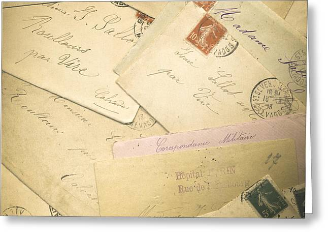 French Correspondence From Ww1 #2 Greeting Card by Jan Bickerton