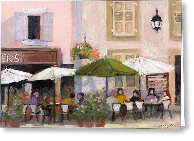 French Country Cafe Greeting Card