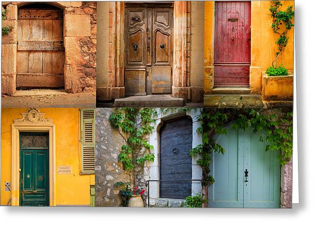 French Doors Greeting Card by Inge Johnsson