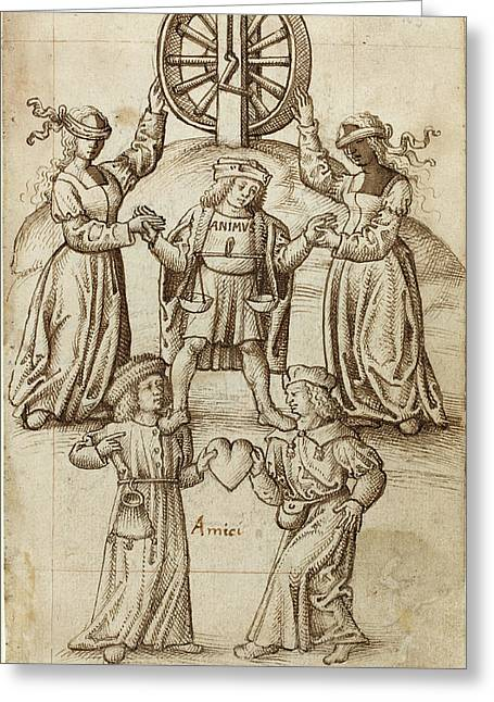 French Early 16th Century, Friendship Is Equality A Friend Greeting Card