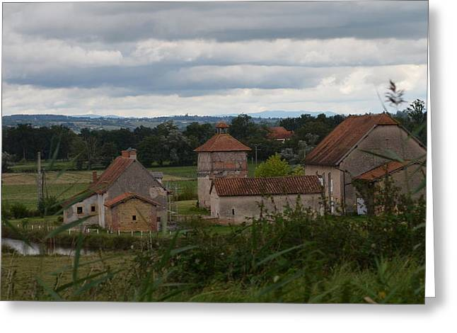 French Farm House Greeting Card