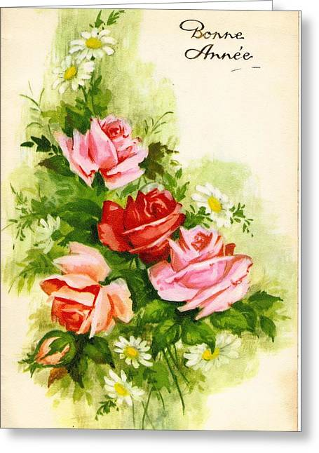 French Floral Greeting Card by Pat Mchale